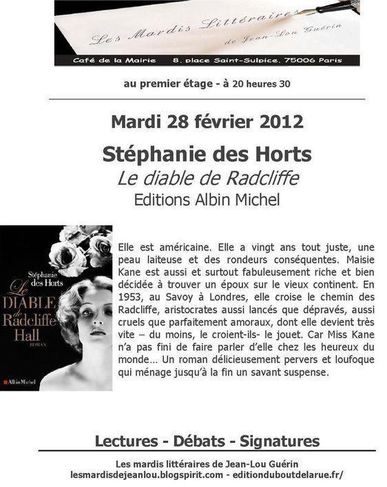28 février 2012 : Stéphanie Deshorts fait son mardi littéraire au café de la mairie