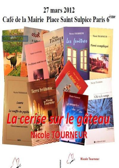 27 mars 2012 : Soirée Hommage à Nicole Tourneur auteure