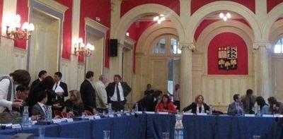 Avant le conseil d'arrondissement - Photo : JH.