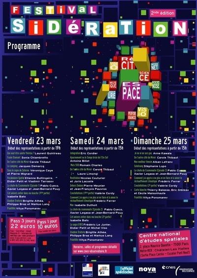 23 - 25 mars 2012 : Festival SIDÉRATION