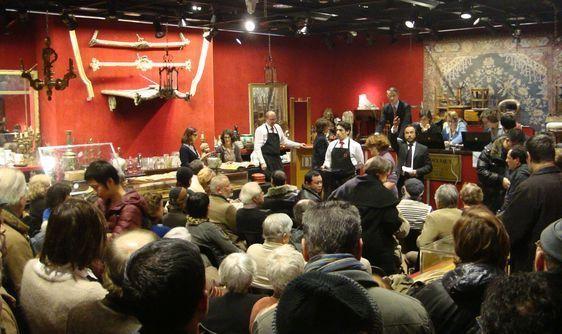 Salle de vente à l'Hôtel Drouot - Photo : TC