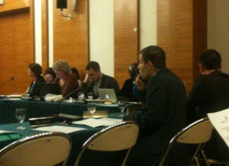 Les élus d'opposition au conseil du 17e arrondissement. De g. à d.: A.Lepetit, I.Gachet, J.Boucher, L.Ndaw, R.Cadoret et S. Labiodh - Photo : GB.