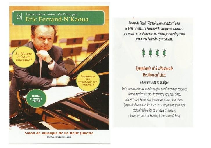 5 avril 2012 : Conversation autour du piano avec Eric Ferrand-N'Kaoua