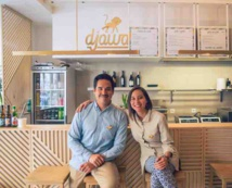 Stephanie Dambron and Fréderic Furmann, both Franco-Indonesian, but Dambron grow up in Indonesia, while Furmann grew up in France, owners of djawa chain©djawa food eateries, Paris