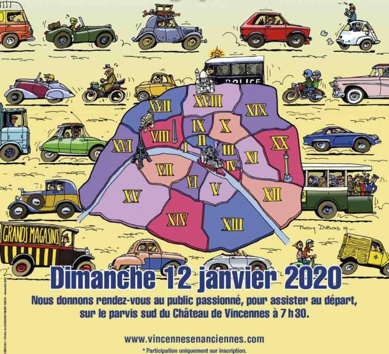 Traversée de Paris en véhicules d'époque