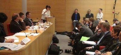 Catherine Jouanneau, représentante du candidat Jean-Luc Mélenchon - Photo : VD.