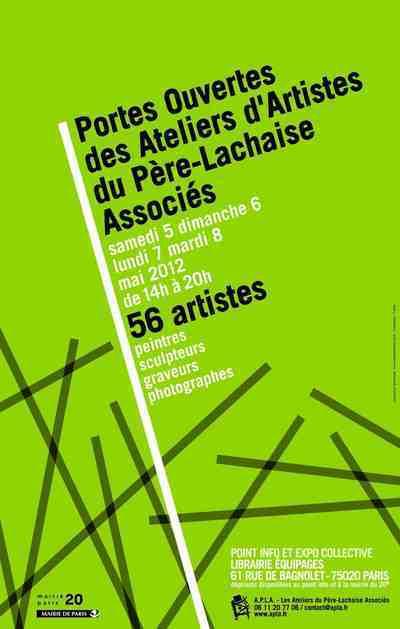 Du 5 au 8 mai 2012 : Portes ouvertes des Ateliers du Père Lachaise.