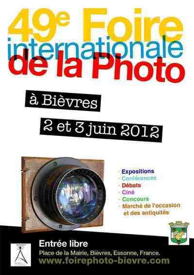 2 et 3 juin 2012 : 49e Foire Internationale de la Photo à Bièvres.
