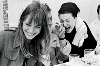 Jane, Serge and Régine at lunch in Normandy, 1969 © Andrew Birken, 1969