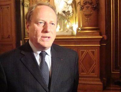 Philippe Goujon le 6 mai 2012 à l'Hôtel de Ville - Photo : VD.