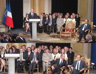 François Hollande et Bertrand Delanoë à l'Hôtel de Ville de Paris le 15 mai 2012 - Photo : VD.