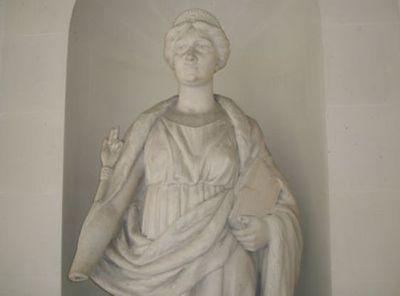 La statue de la Justice au Palais de Justice de Paris - Photo : VD.