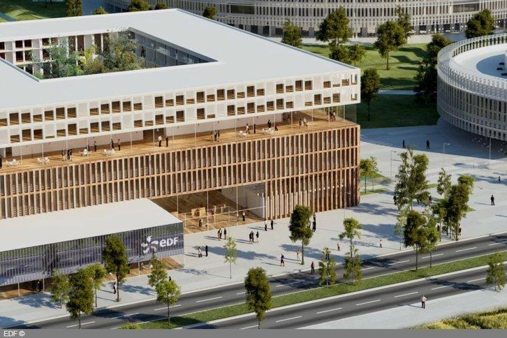Campus EDF à Saclay dans l'Essonne (c) EDF.