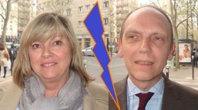 Valérie Paparemborde (UMP) et Thierry Coudert (Vice-président de l'UMPPA au Conseil de Paris).