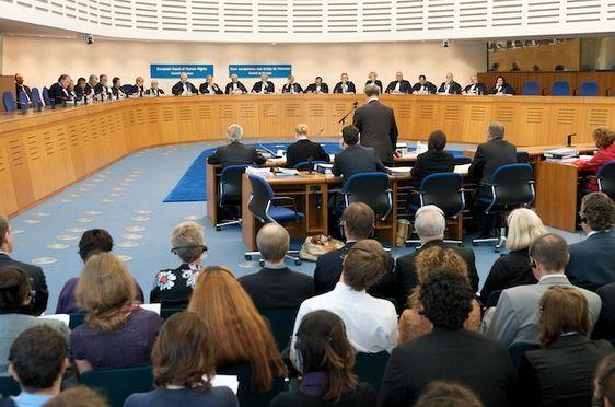 Audience à la Cour Européenne des Droits de l'Homme à Strasbourg (c) CEDH.