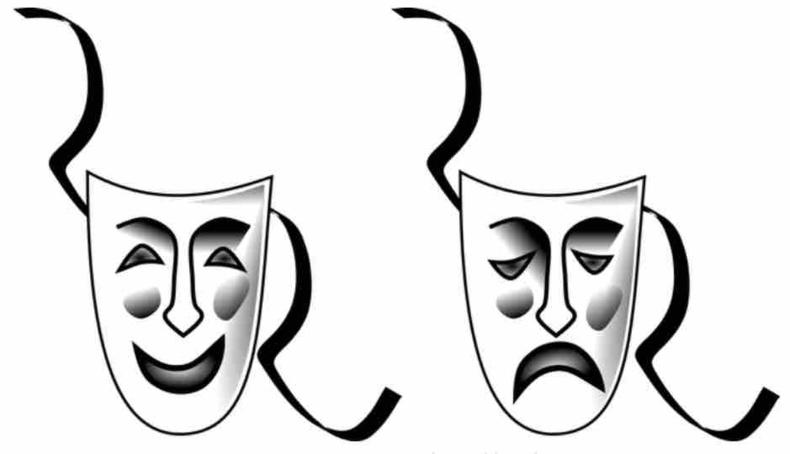Masque qui rit et masque qui pleure © zorlot CC-BY SA 3.0