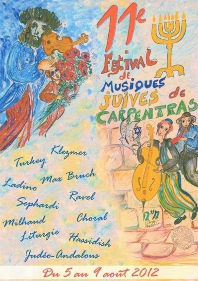 (c) Festival des musiques juives de Carpentras.