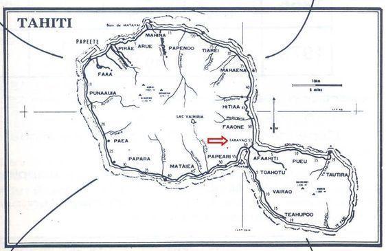 La ville de Taravao est située à l'isthme de Tahiti, entre Tahiti Nui et Tahiti Iti