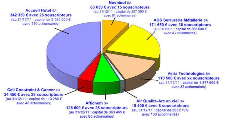 Capitaux collectés en 2011 (c) Association Love Money pour l'Emploi.
