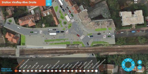 Promenade virtuelle du futur tramway entre Châtillon (92 Hauts de Seine) et Viroflay (78 Yvelines) (c) Artefacto.