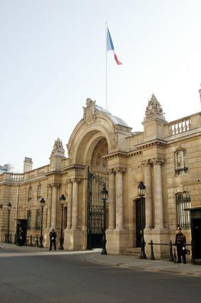 L'entrée du Palais de l'Elysée © Pascal Wolff - Fotolia.com