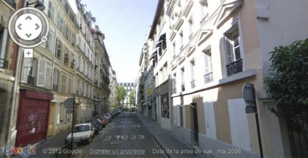 Rue Dautancourt © Google View.