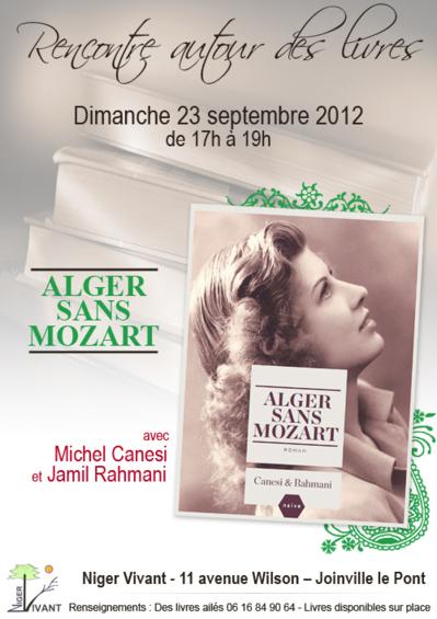 """""""Alger sans Mozart"""" de Jamil Rahmani et Michel Canesi aux éditions Naïve."""
