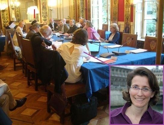 Laurence Girard, membre du conseil du 7e arrondissement le 10 septembre 2012.
