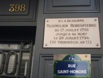 Georges Couthon logeait dans le même immeuble que Maximilien de Robespierre Rue Saint Honoré à Paris, au n°366 à l'époque, devenu le n° 398.