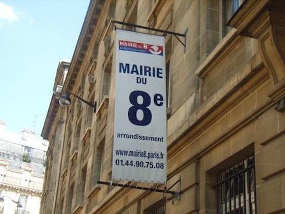 La mairie du 8e arrondissement.