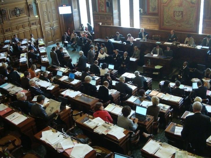Précédente séance du conseil de Paris les 24 et 25 septembre 2012 - Photo : VD.