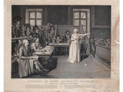 Jugement de Marie-Antoinette par le Tribunal révolutionnaire (c) Etude Coutau-Bégarie.