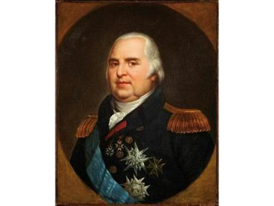 Portrait de Louis XVIII (c) Etude Coutau-Bégarie.