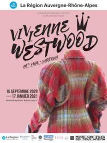 Exhibition poster, Vivienne Westwood, Art, Mode and Subversion@Musée des Tissus, Lyon
