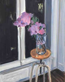 Jean-Philippe Delhomme, Nocturnal lilac, 2020, oil on canvas©Claire Dorn, courtesy Delhomme and Perrotin