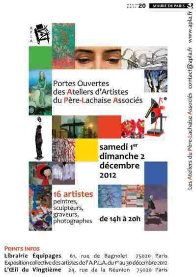 1er et 2 décembre 2012 : Portes ouvertes des Ateliers du Père Lachaise