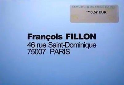 Adresse de la permanence de François Fillon à Paris.