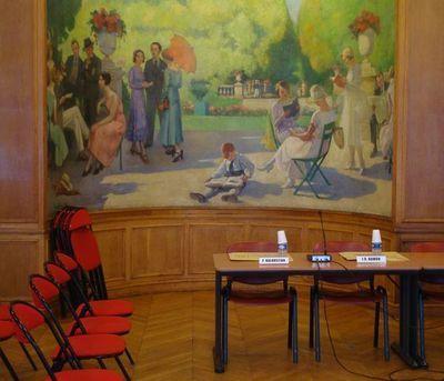 Salle du conseil du 5e arrondissement.