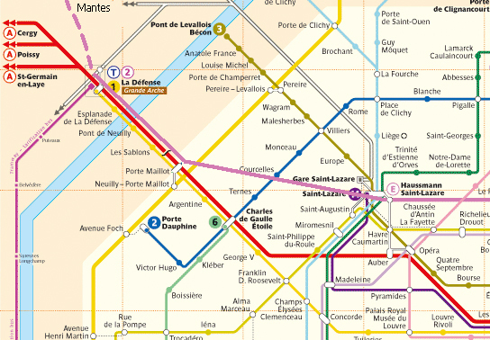 Projet du prolongement à l'ouest de la ligne E du RER, de la gare Haussmann-Saint-Lazare à celle de Mantes-la-Jolie, impactant les 8e, 16e, 17e et 19e arrondissement de Paris (c) blogencommun.fr