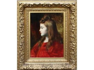 Jean-Jacques Henner (1852 - 1905) : Portrait de Mlle Delzant - Crédit : Etude Cousin.
