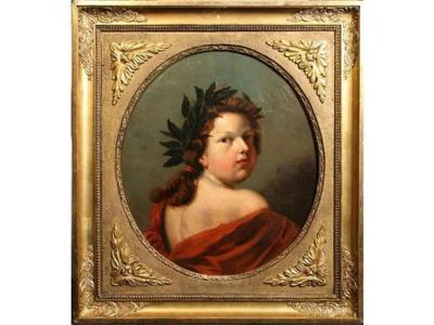 Portrait présumé de Louis XVI enfant Ecole française du XIXe siècle - Huile sur Toile 48 x 55 cm présentée aux enchères le 9 décembre 2012 aux Andelys - Crédit : Etude Cousin - Estimation 1 500 €.