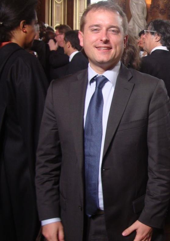 Loïg Raoul à l'Hôtel de Ville le 15 mai 2012 au discours de François Hollande - Photo : VD.