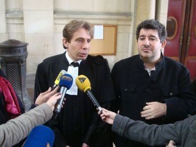 Maître Olivier Pardo, avocat au Barreau de Paris, et Yves Derai, éditeur des Editions du Moment.