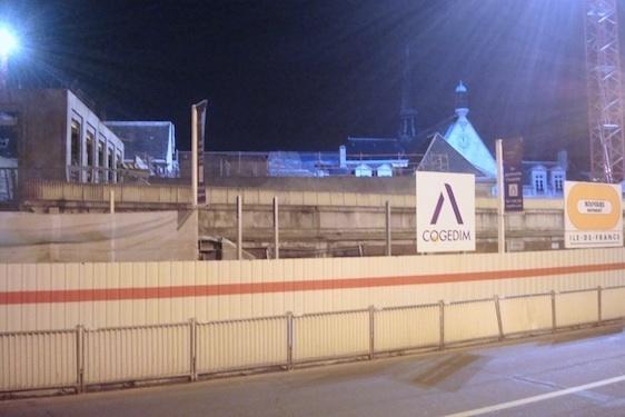 Le chantier Laennec s'est poursuivi jusqu'aux environs de minuit dans la nuit du 11 au 12 décembre 2012 - Photo : VD.
