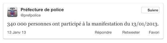 Twitter officiel de la préfecture de police.