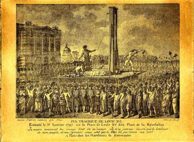 Il y a 225 ans, le 21 janvier 1793, le Roi Louis XVI, le citoyen Louis Capet, était exécuté sur la Place de Louis XV dite Place de la Révolution, actuellement Place de la Concorde.