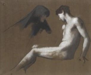(c) Jean-Jacques Henner (1829-1905), Saint Sébastien, vers 1887-1888 Huile sur carton Paris, musée national Jean-Jacques Henner © RMN-Grand Palais / Franck Raux.