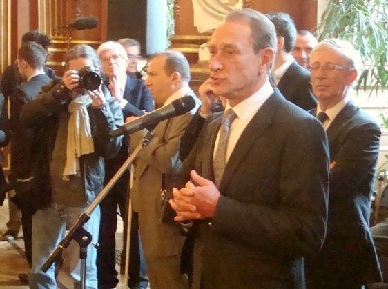 Voeux de Bertrand Delanoë à la presse - Photo : VD.