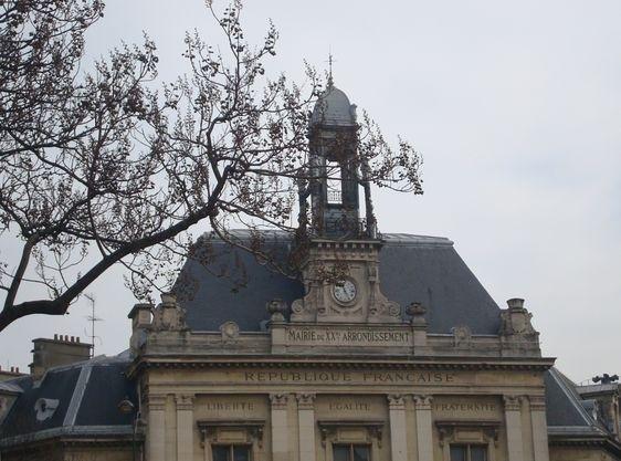 Mairie du XXe arrondissement.
