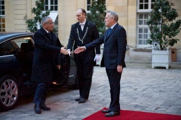 Visite officielle de Ali Zeidan à Paris avec Jean-Marc Ayrault le 13 février 2013 - Crédit photo - Benoît Granier / Matignon.